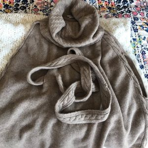 Nordstrom 100% cashmere poncho sweater